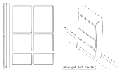 Duct Panelling - Toilet Cubicles